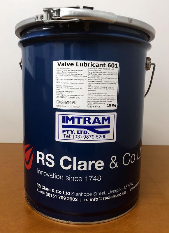 RS Clare 601 Valve Lubrication